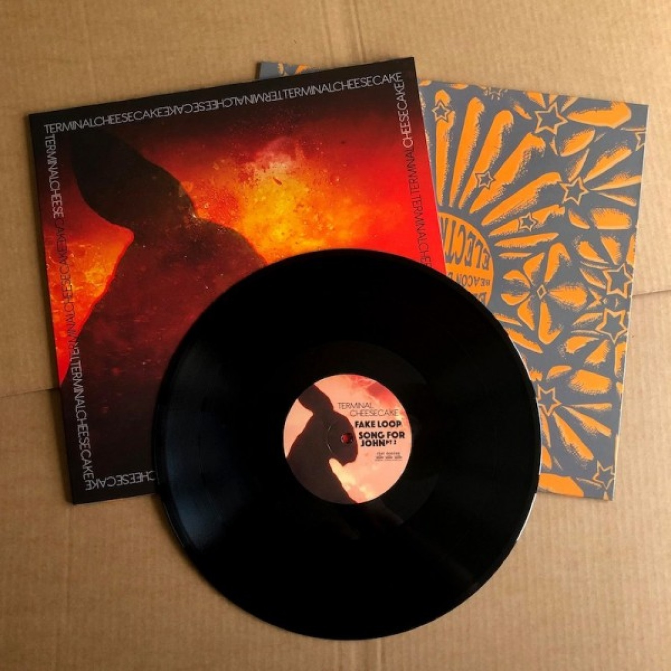 ELECTRIC MOON / TERMINAL CHEESECAKE - in search of highs vol. 3 split LP schwarz